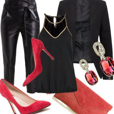Outfit Chic in pelle