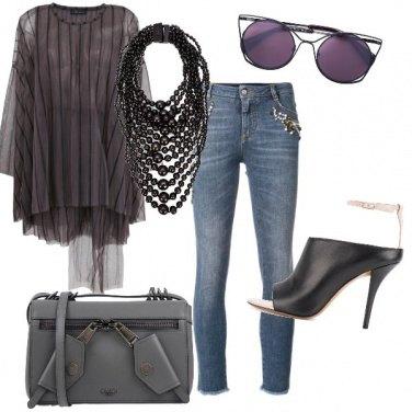 Outfit Grigio violaceo