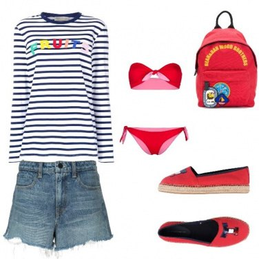 Outfit Spiaggia sera look