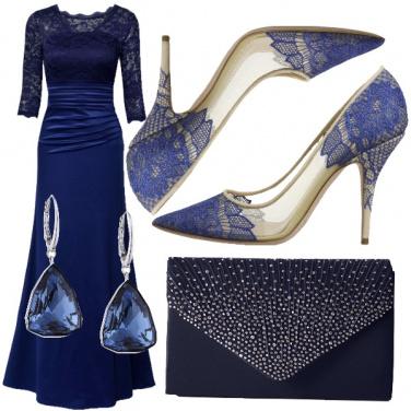 Outfit La mamma della sposa in blu