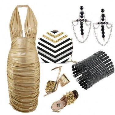 Outfit Nero+oro per brillare di notte