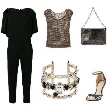 Outfit Bronzo e nero