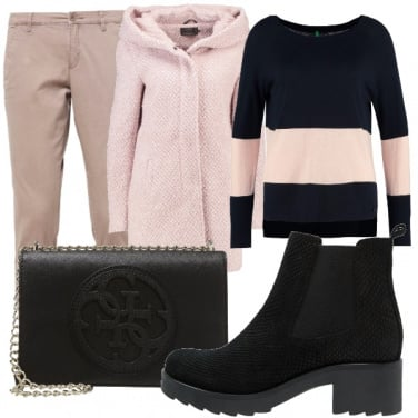 Outfit Pink and black