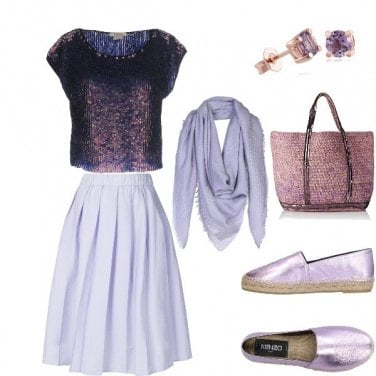 Outfit Rosa+violetto=chic