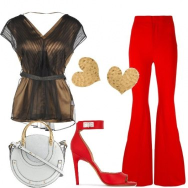 Outfit Party in rosso