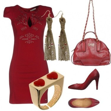 Outfit Stasera in rosso