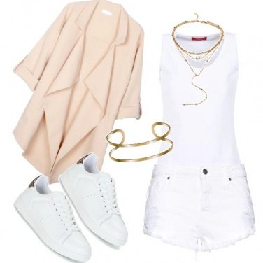 Outfit White&gold