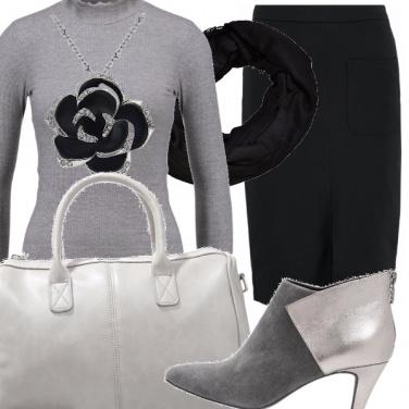 Outfit Il fiore nero