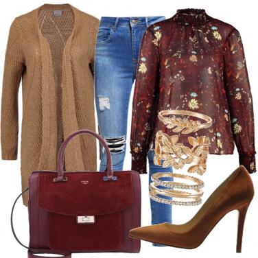 Outfit Maxi cardigan e tacco
