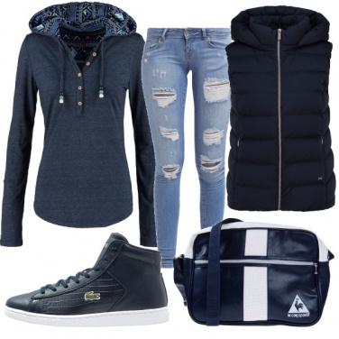 Outfit Sportiva in blu