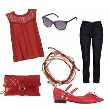 Outfit Red is chick