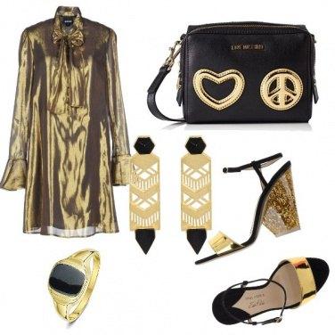 Love Moschino Borsa Vit.pebble Nero+tpu Oro - Borse a tracolla Donna ... ea5e615e6fa