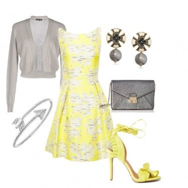 Outfit Yellow and grey