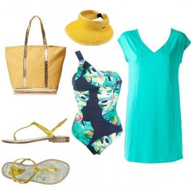 Outfit Verde+giallo =estate