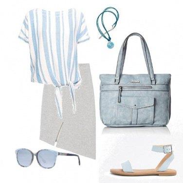 Outfit Azzurro cenere