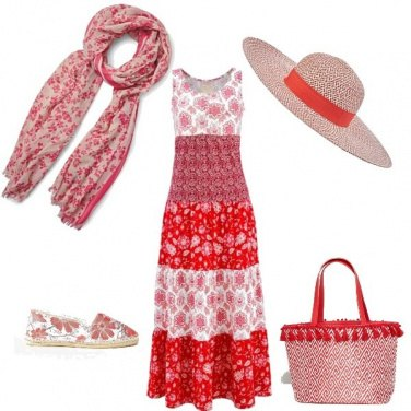 Outfit Campesina rossa