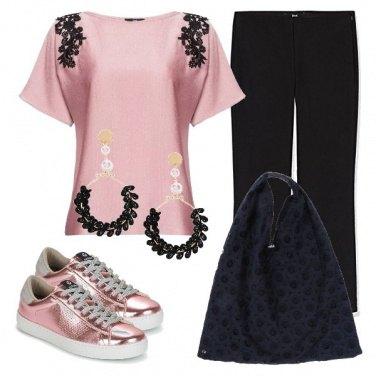 Outfit TSK La borsa in pizzo