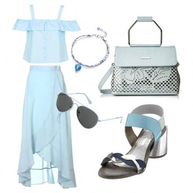 Outfit Azzurro trendy