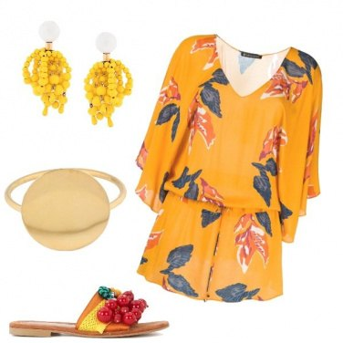 Outfit Yellow party