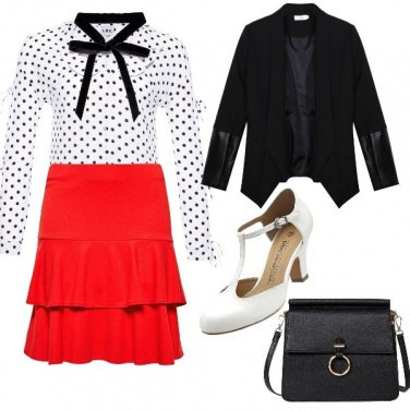 Outfit Pois, fiocchi e rosso... intramontabili!