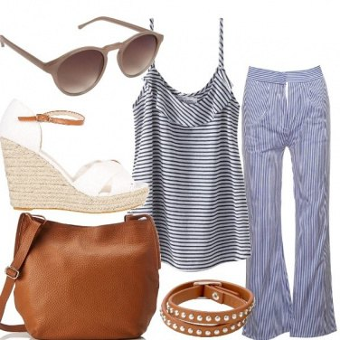 Outfit Mix di righe
