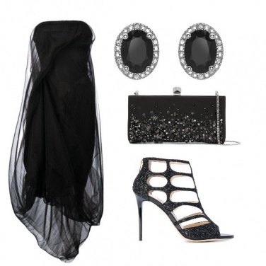 Outfit Black and sparkle