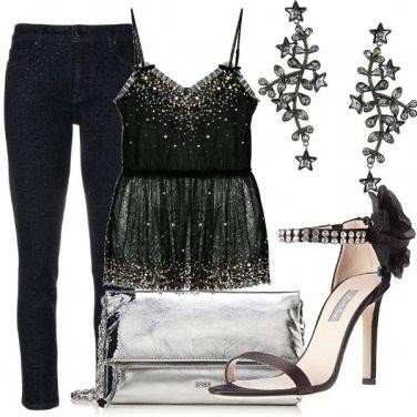 Outfit Cascata di cristalli