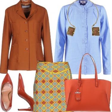 Outfit In ufficio con il colore