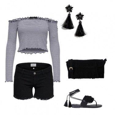 Outfit Fresco di sera e frange