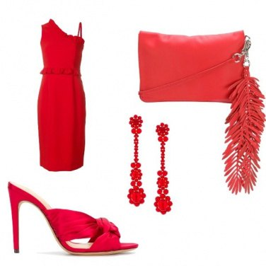 Outfit Rosso lacca
