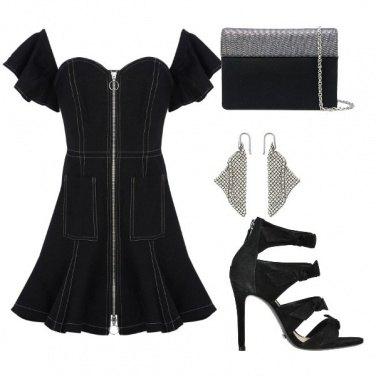Outfit Total black per un appuntamento