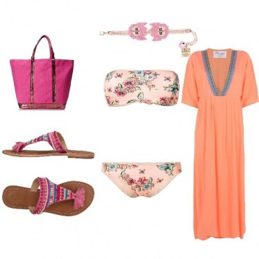 Outfit Albicocca easy beachwear