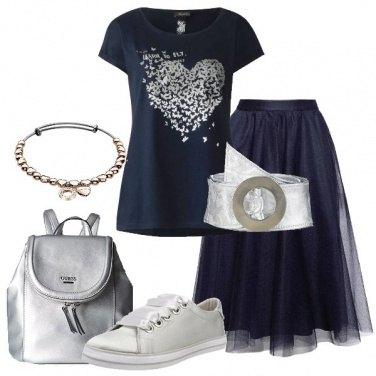 Outfit Blu e silver