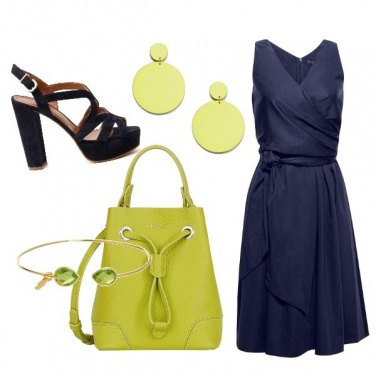 Outfit CMPS Lime green e deep blue