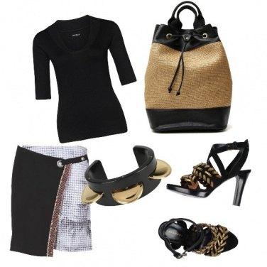 Outfit CMPS Mezzamanica black per essere rock