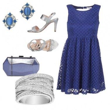 Outfit Deliziosa in blu è argento