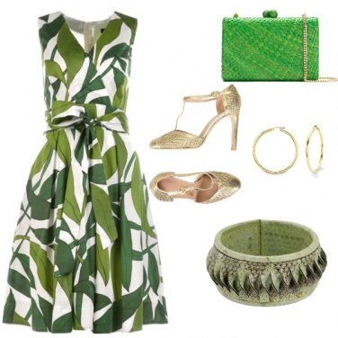 Outfit Cerimonia green