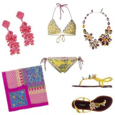 Outfit Party a colori sulla spiaggia