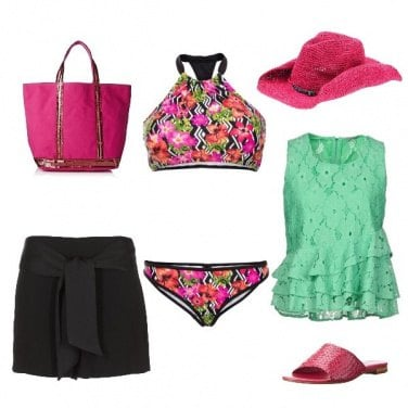 Outfit Verde &rose flory