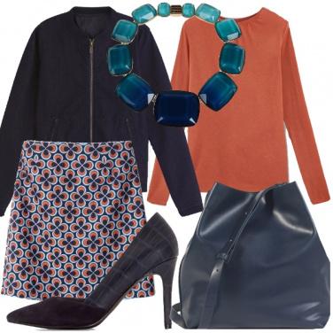 Outfit Blu e arancio