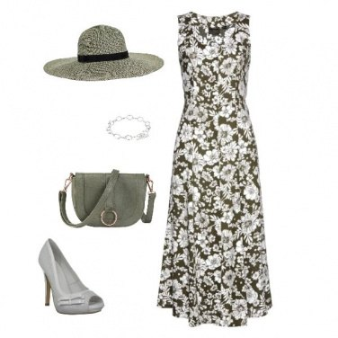 Outfit Eleganza floreale