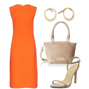 Outfit Tubino sì ma arancio