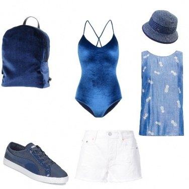 Outfit Ciniglia blue beach