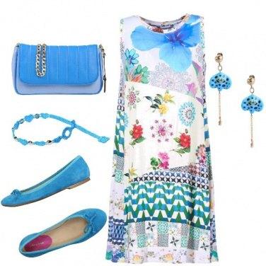 Outfit Murena blu china