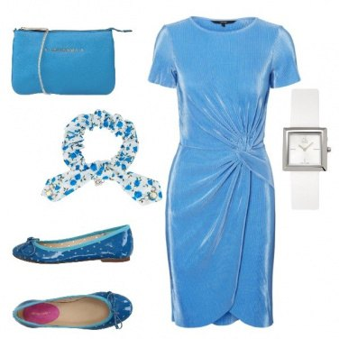 Outfit Ciniglia azzurro cielo +chic