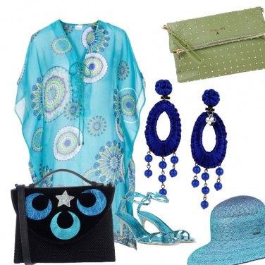 Outfit 10 sfumature di azzurro