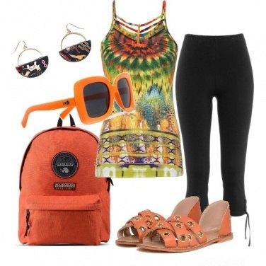 Outfit Arancione estivo
