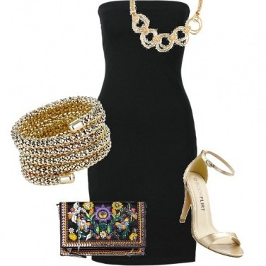 Outfit Chic in gold