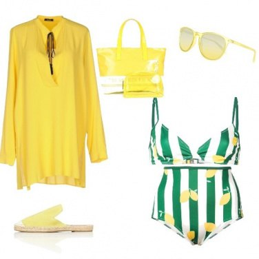 Outfit Giallo sole beach