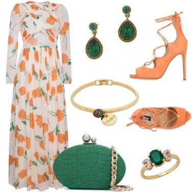Outfit Arancio e verde